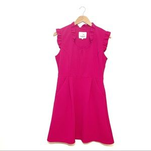 Anthro | Tabitha Pink Cherie Ruffle Dress Size 10